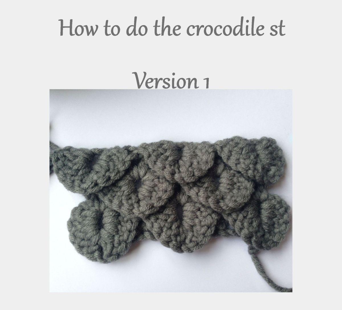 Crocodile Stitch Tutorial (UK & USATerminology)